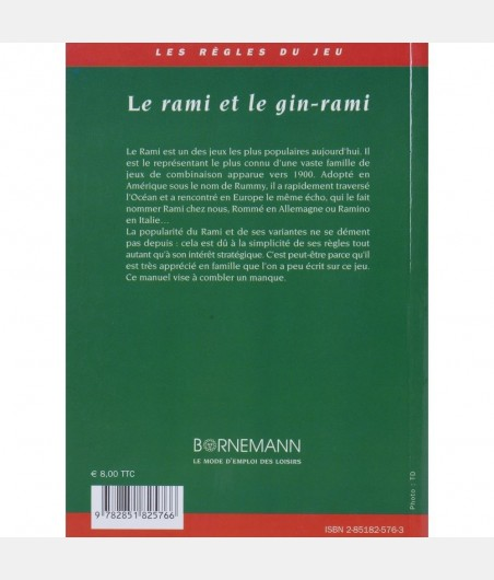 Le rami et gin-rami LIV4276 Livres de jeux