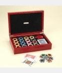 Mallette de Poker cuir façon croco luxe JET3201 Poker