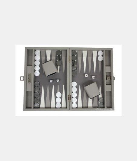 Backgammon cuir buffle médium BAC1120 Jeux