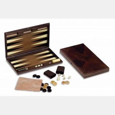 Wood backgammon