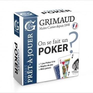 Coffret Poker jeu de cartes et jetons CAR1046 Tout voir