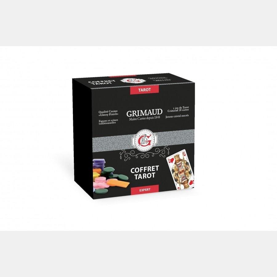 Coffret Tarot façon cuir noir Grimaud expert COF2166 Cartes de tarot