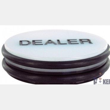 Two-color poker dealer token
