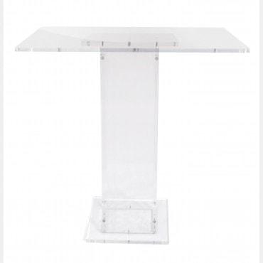 TABLE DE JEU ACRYLIQUE INCOLORE JEU9000 Échecs