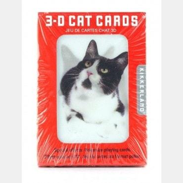 Jeu de cartes chats en 3D CAR7441 Cartes à jouer