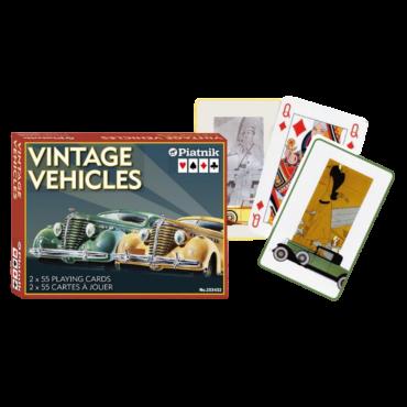 Vintage vehicles card set