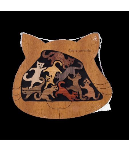 Casse-tête en bois décoratif : Chats Perchés JEU2512 Jeux