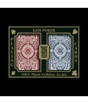 Coffret de 2 jeux de cartes Poker Kem Jumbo CAR2596C Tout voir