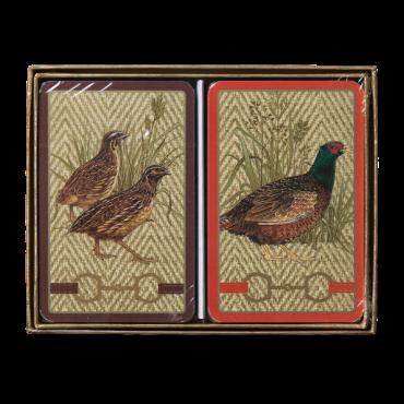 Coffret de 2 jeux de cartes Caspari Faisans et perdreaux CAR32004 Cartes