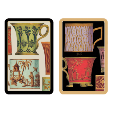 Coffret de 2 jeux de cartes Caspari Salon de thé CAR32006 Cartes à jouer