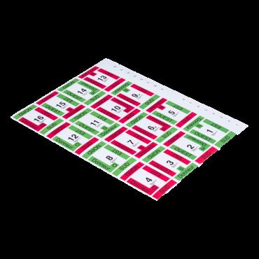 Planche de 16 étiquettes autocollantes pour étuis grainés ETU1035C Étuis et planches
