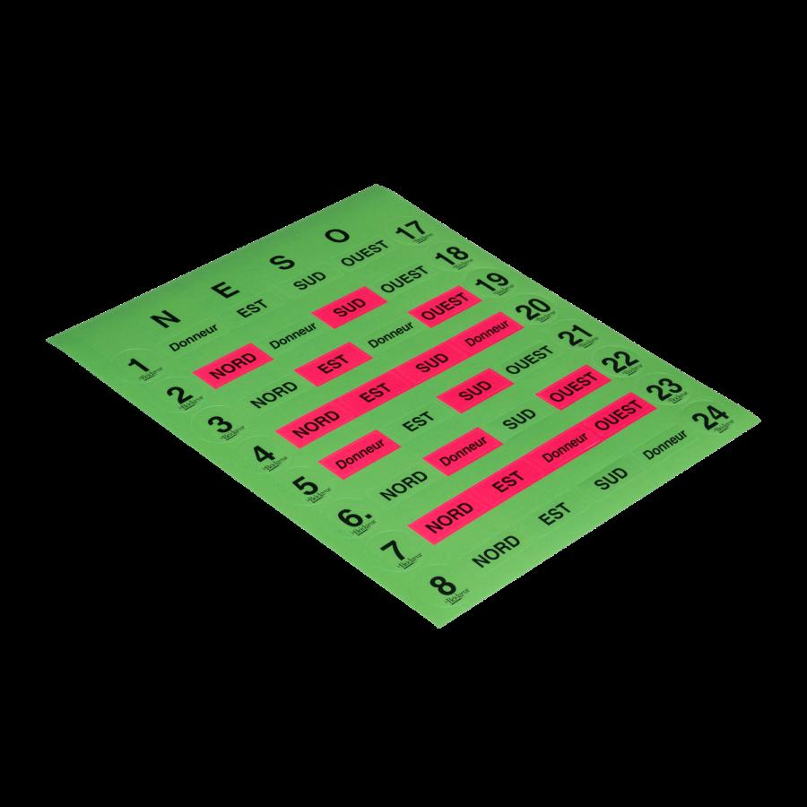 Planche de 8 numéros d'étuis pour DupliPlus ETU1020 Étuis et planches