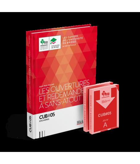 Pack CUB 5 : Les Ouvertures et Redemandes à Sans-Atout - Livre et cartes LIV10002 Librairie