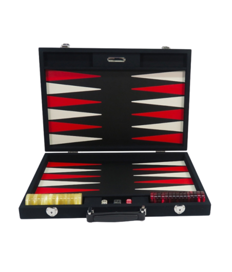 Backgammon façon cuir compétition noir BAC1101 Jeux