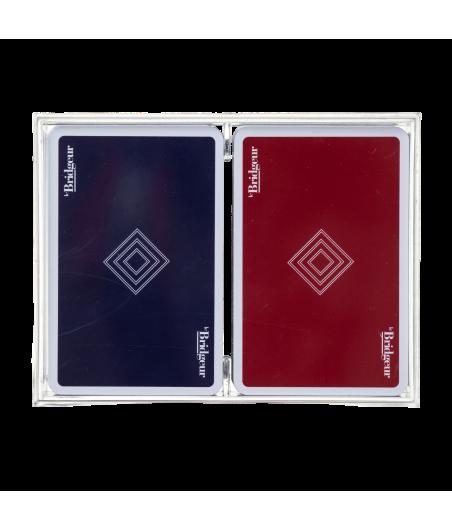 Coffret de 2 jeux de cartes classiques CAR1012A Cartes