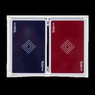 Coffret de 2 jeux de cartes classiques CAR1012A Cartes à jouer