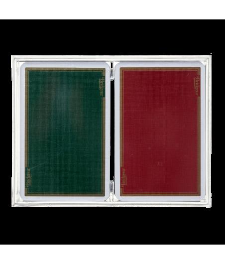 Coffret de 2 jeux de cartes toilées CAR1022A Cartes à jouer