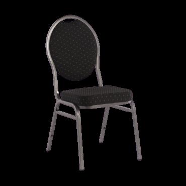 Chaise tissu noir et pieds argentés CHA5000 Tout voir