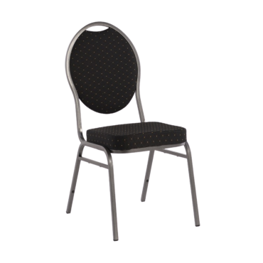 Stackable chair silver tube...
