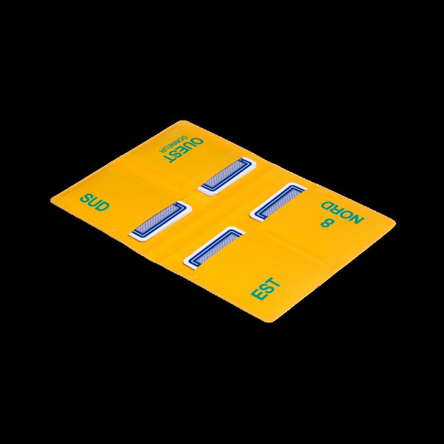 Lot de 8 étuis de bridge souples ETU100 Étuis et planches