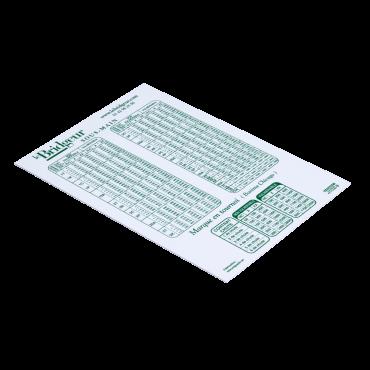 Sous-main plastique- Barème des points MAR1123 Feuilles et carnets de marque