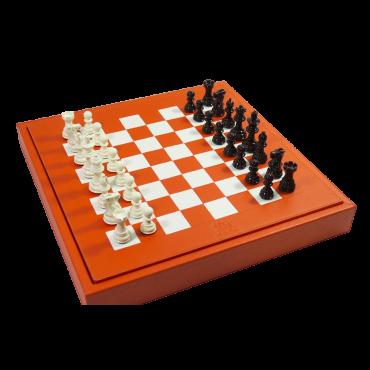 Coffret d'échecs en cuir de buffle ECH1950 Échecs
