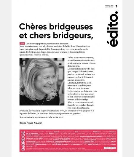 BeBRIDGE - Janvier 2021 bri_journal931 Anciennes revues BeBridge - format papier