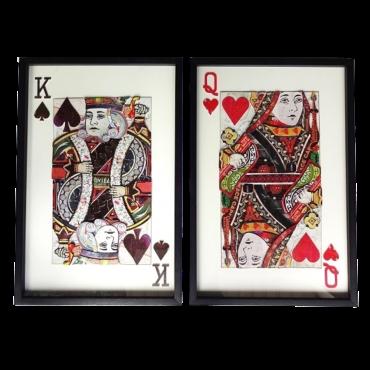 Cadre décoratif modèle roi de pique ou dame de coeur ACC6055 Tout voir