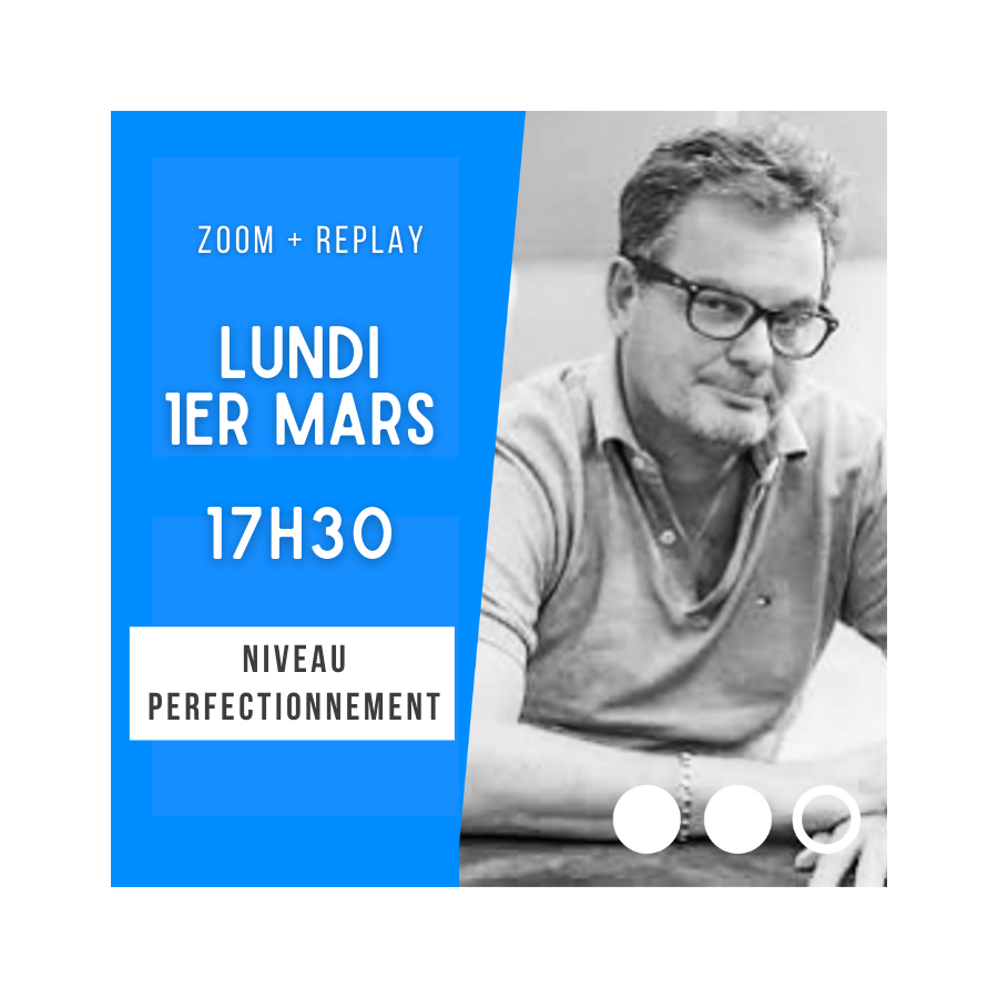 Zoom + Replay : Le 2 sur 1 forcing de manche - Laurent Thuillez CONF64 La boutique