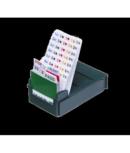 Lot de 4 boîtes à enchères Bridge Partner POCKET et recharges BID310 Boîtes à enchères et recharges