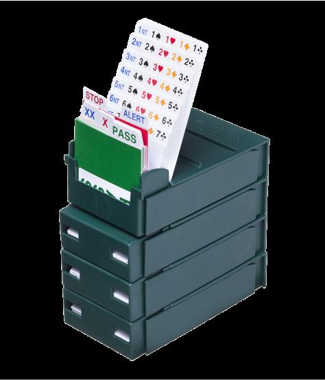 Lot de 4 boîtes à enchères Bridge Partner POCKET et recharges BID3102 Boîtes à enchères et recharges
