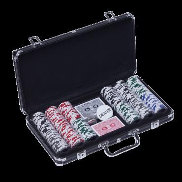 Mallette de poker 300 jetons JET2017 Poker