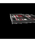 Backgammon Hector Saxe façon cuir extérieur noir 25x37cm BAC1090 Jeux