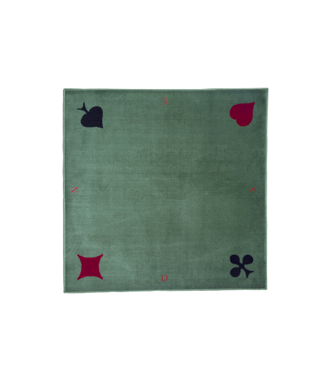 Green synthetic velvet rug - with markers