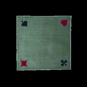Green synthetic velvet rug...