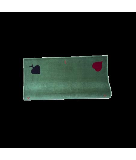 Tapis de bridge effet velours vert avec repères NSEO 77x77 cm TAP1000 La boutique
