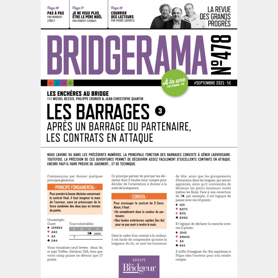 Bridgerama - Septembre 2021 numérique ou papier rama_num_pap478 Derniers numéros BRIDGERAMA